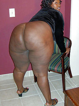 obese booty black woman tease